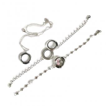 Ketting, bijpassend bij oorbellen en armband