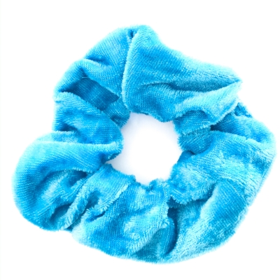 Scrunchie turquoise velours