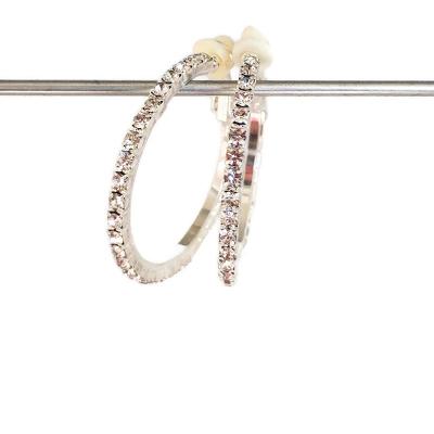Clipoorbellen creolen/ringen met glitters, 3 cm
