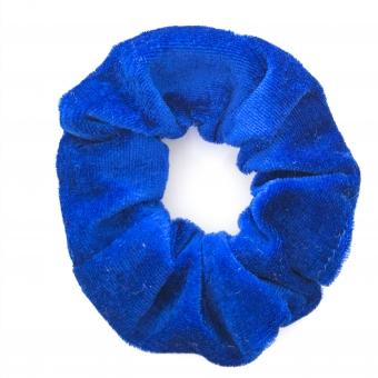 Scrunchie blauw velours