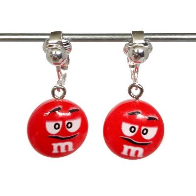 Clipoorbellen M&M rood, hangoorbellen