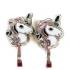 Clip oorbellen eenhoorn unicorn roze, knopje