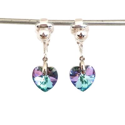 Clipoorbellen chique oorbellen met Stellux Austrian Crystal, hangoorbellen