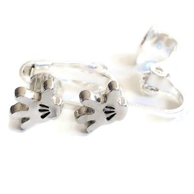 Clip oorbellen Mickey/Mini Mouse hand, knopje