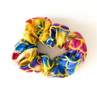 Scrunchie zeemeermin geel