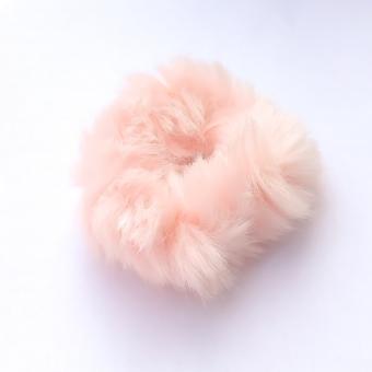 Scrunchie fluffy, lichtroze