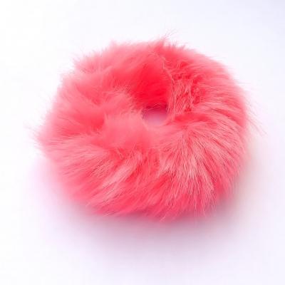 Scrunchie fluffy, roze