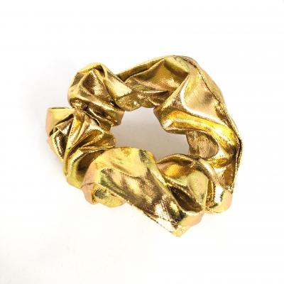 Scrunchie glimmend, goud