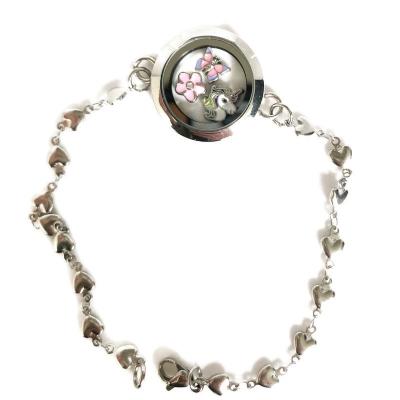 Armband, bijpassend bij oorbellen-hartjes