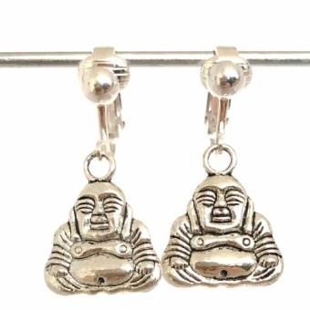 Clipoorbellen zilver buddha, hangoorbellen