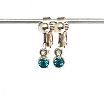 Clipoorbellen miniglitter turquoise, hangoorbellen